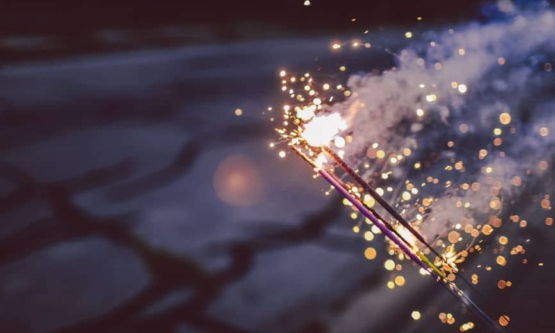 Close Up Of A Handful Of Sparklers