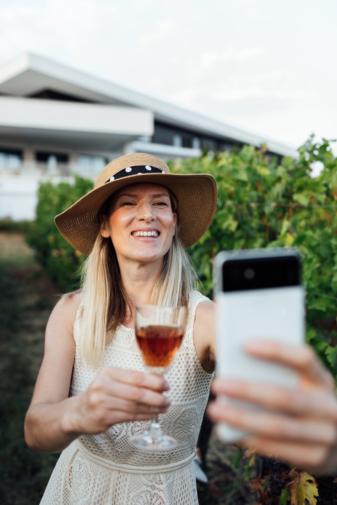 Selfie In The Vineyards